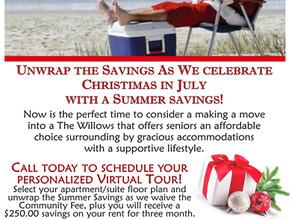 Christmas in July Summer Savings