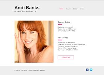 actress resume website template wix