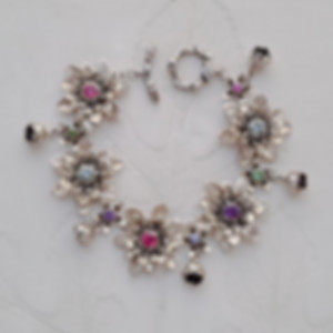 Botanically inspired jewelry, handcrafted, flower bracelet, milkweed, arnica, morning glory, lilies of valley