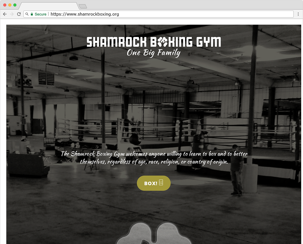 Shamrock Boxing Website