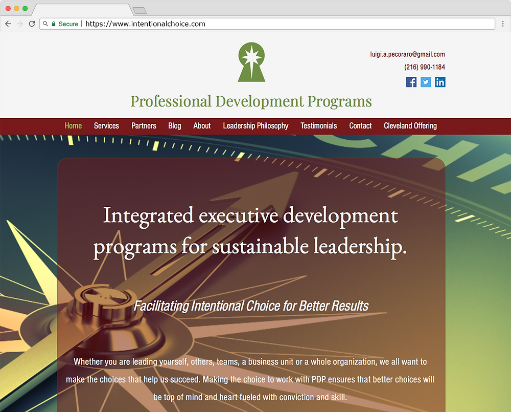 Professional Development Programs Website