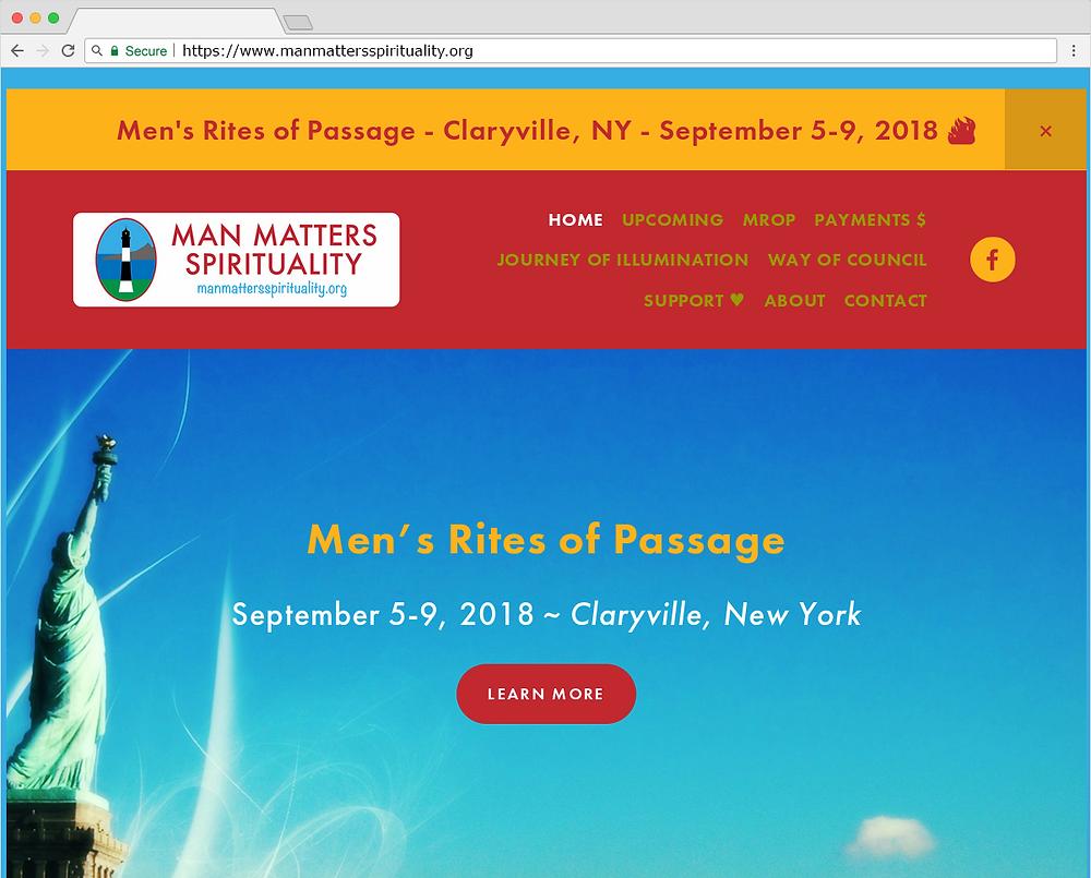 Man Matters Spirituality Website