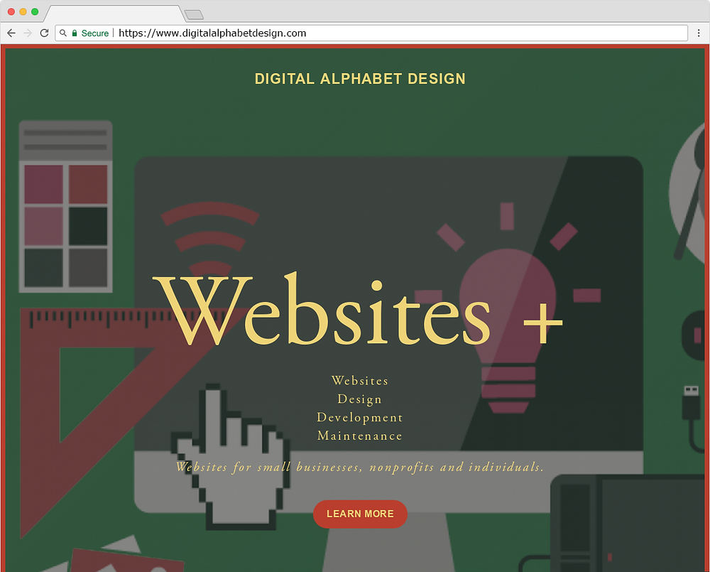 Digital Alphabet Design Website (2017)