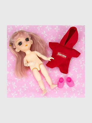 Набор материалы+шарнирная кукла НШ02