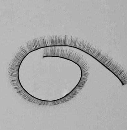 Eyelashes for toys, black 20 cm