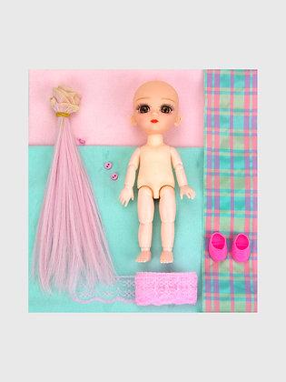 Набор материалы+шарнирная кукла НШ03
