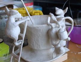 Having a teaparty