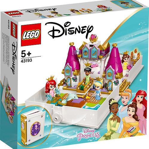 LEGO 43193 Märchenbuch Abenteuer mit Arielle, Belle, Cinderella und Tiana