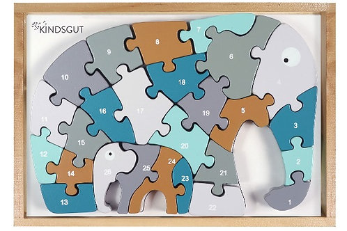 Buchstaben-Puzzle Elefant
