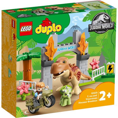 LEGO DUPLO 10939 Ausbruch des T. rex und Triceratops