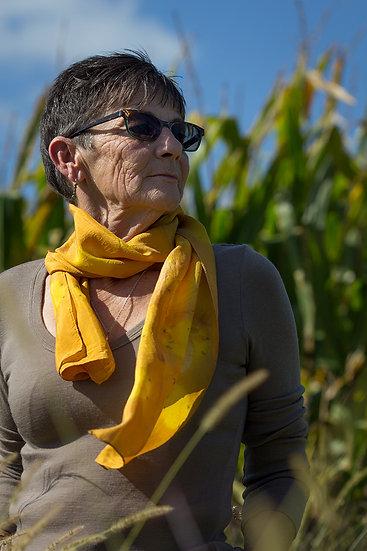 Marigold and sunshine silk scarf