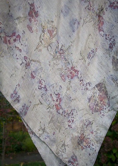 Silver and berry - silk square