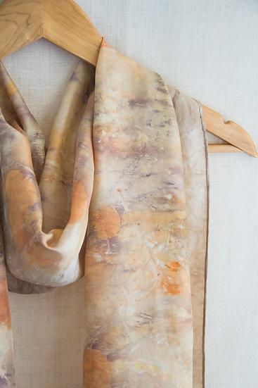 Autumn golds silk scarf