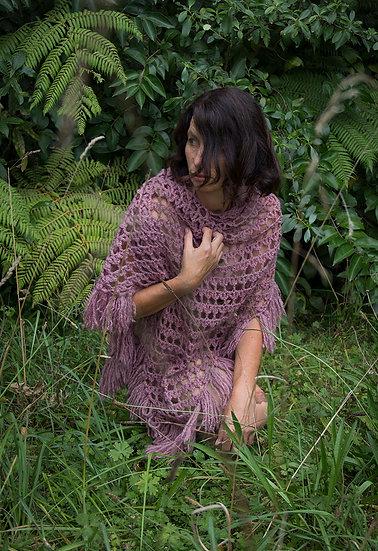 Vintage hand crocheted shawl