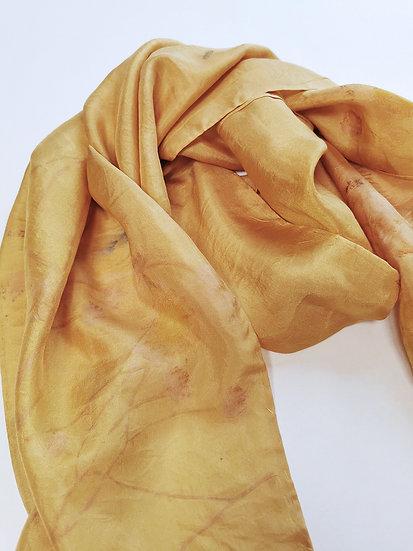 Mustard yellow - plant dyed silk scarf