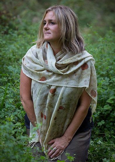 Merino wrap - winter collection -earthen tones