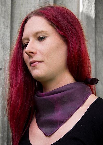 Plum and pink neck square, bandana