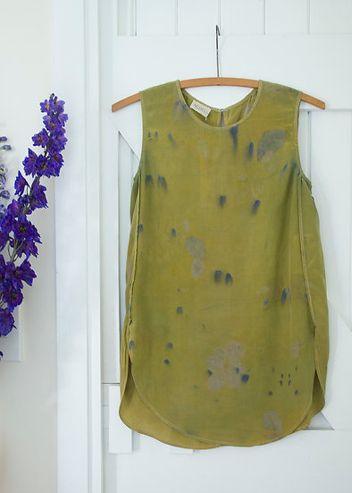 Silk tunic - chartreuse