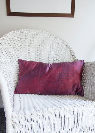 Silk & linen cushion, eco dyed