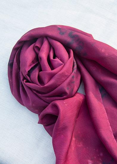 Silk scarf - cherry red