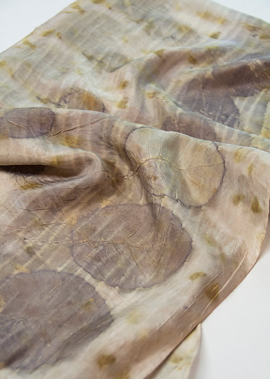 Pewter and Moss silk scarf