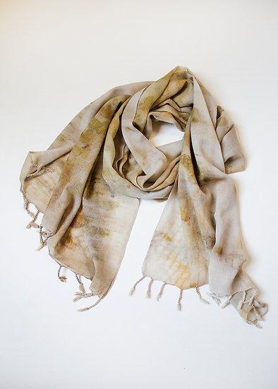 Eco Printed Merino Wrap