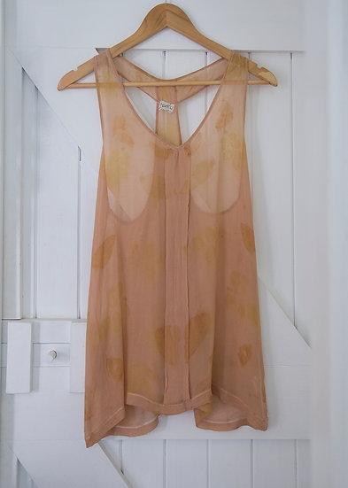Silk tunic - blush