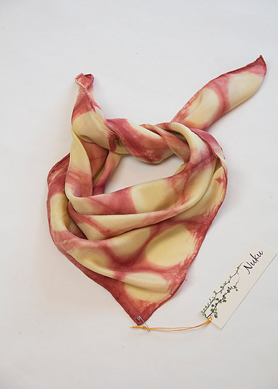 Silk bandana size - strawberries and cream