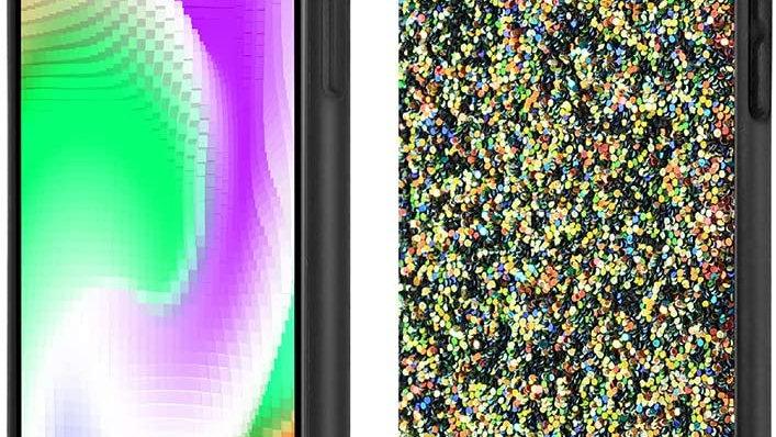 Schwarze Schutzhülle für iPhone 11, glitzernd