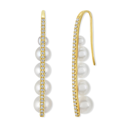 Revel Pearl Cascade Drop Earrings
