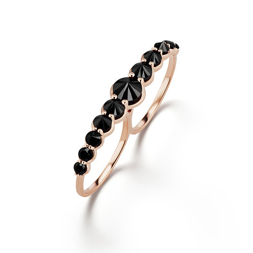 Black RoseTwo Finger Ring