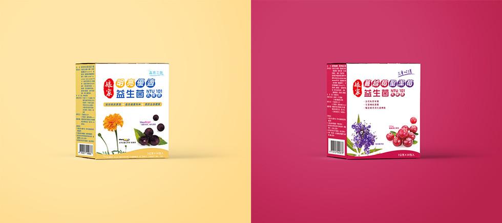 娘家明亮優適益生菌商品包裝 / 娘家蔓越莓聖潔莓益生菌商品包裝