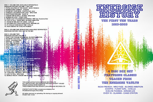 Energise History (The First Ten Years) Discs 1-4
