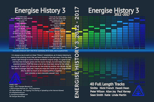 Pre-Order - Energise History 3       (4 Disc Boxed Set)