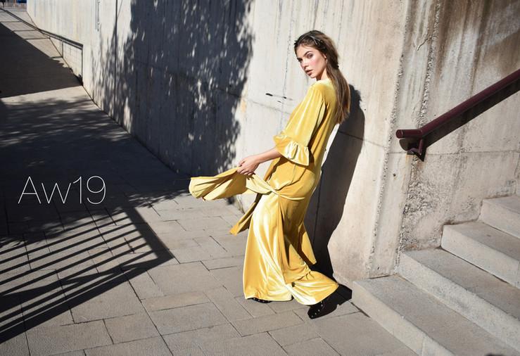 Conjunto Velvet Amarillo