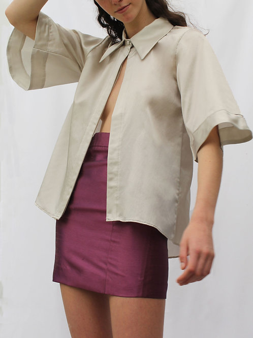 Blusa Lou Grey Silk