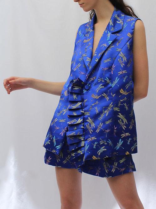 Blazer sin manga Montmartre azul