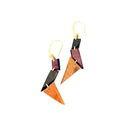 SinniS mixed wood earrings