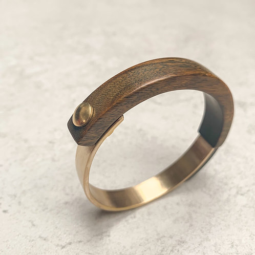 SinniS the mixed wood & brass bangle