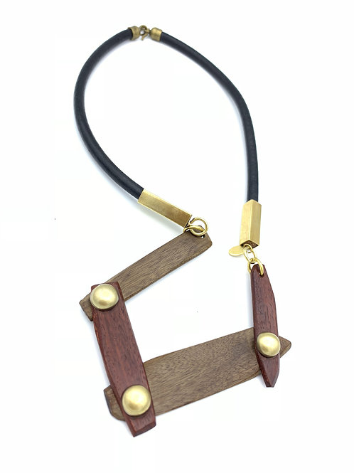 SinniS mixed wood necklace