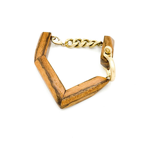 SinniS wood and brass bracelet