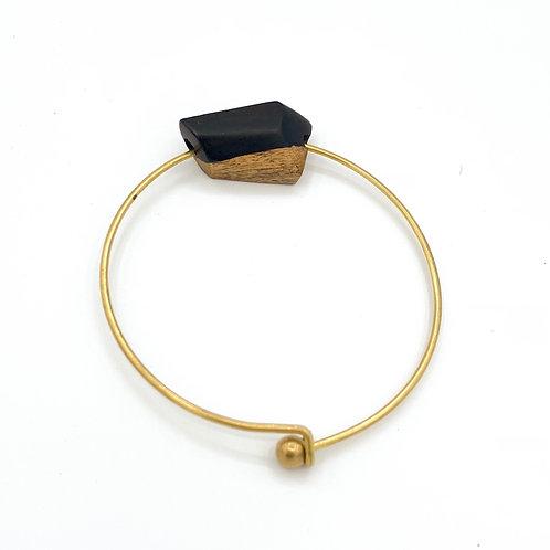 SinniS wood and brass bracelet