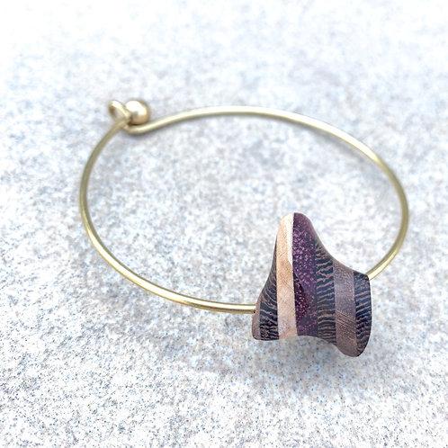 Cocktail woody brass bracelet