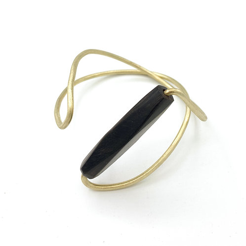 SinniS brass and wood bracelet