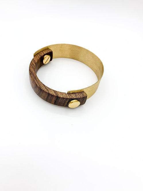 SinniS wood and brass bangle