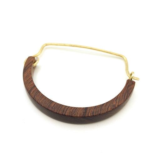 SinniS wooden and brass bangle / bracelet