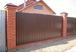 Забор из профлиста, металические заборы Самара под ключ