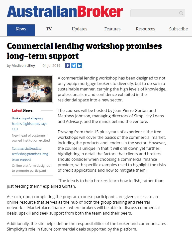 Commercial Lending workshop promises long-term support