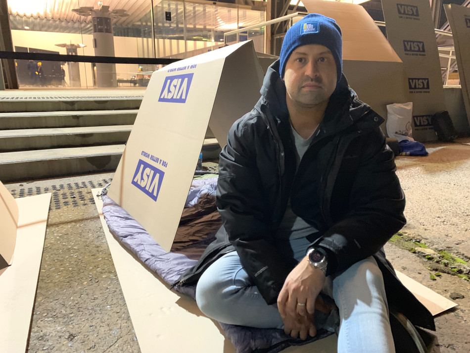 CEO's Sleepout in support of thehomeless