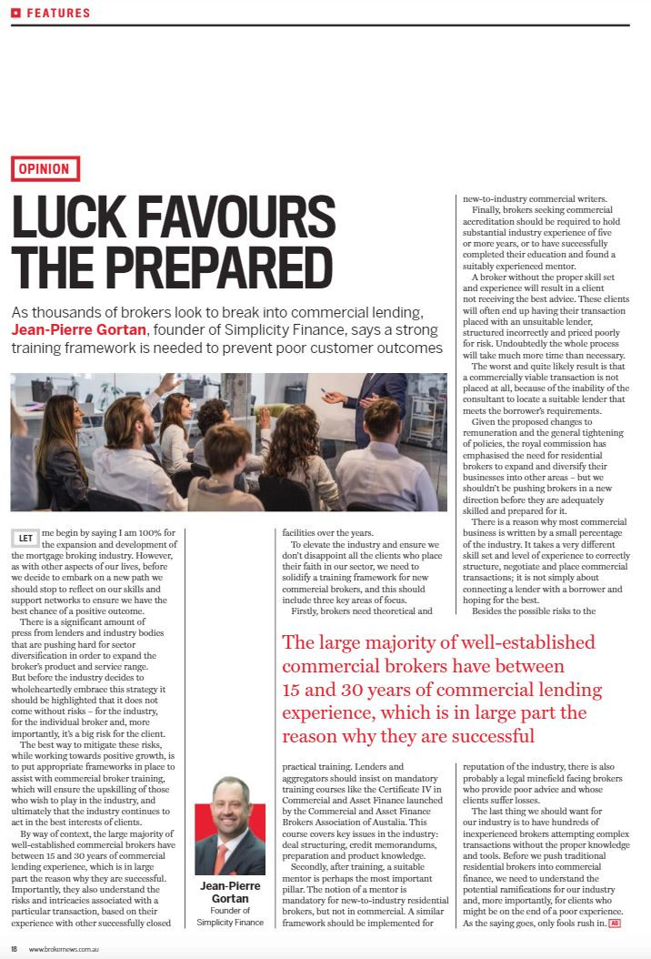 Luck Favours The Prepared - The Australian Broker